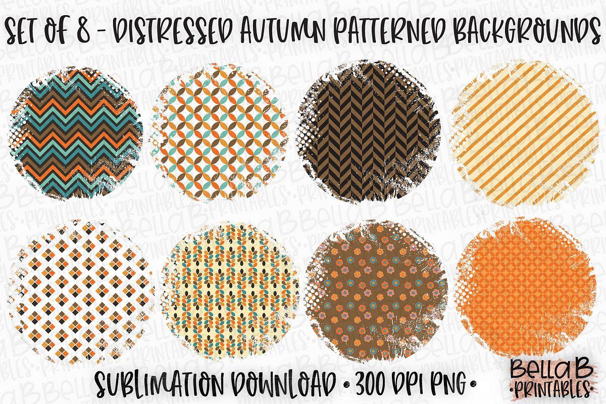 Autumn Fall Sublimation Background Bundle, Autumn Patterns example image 1