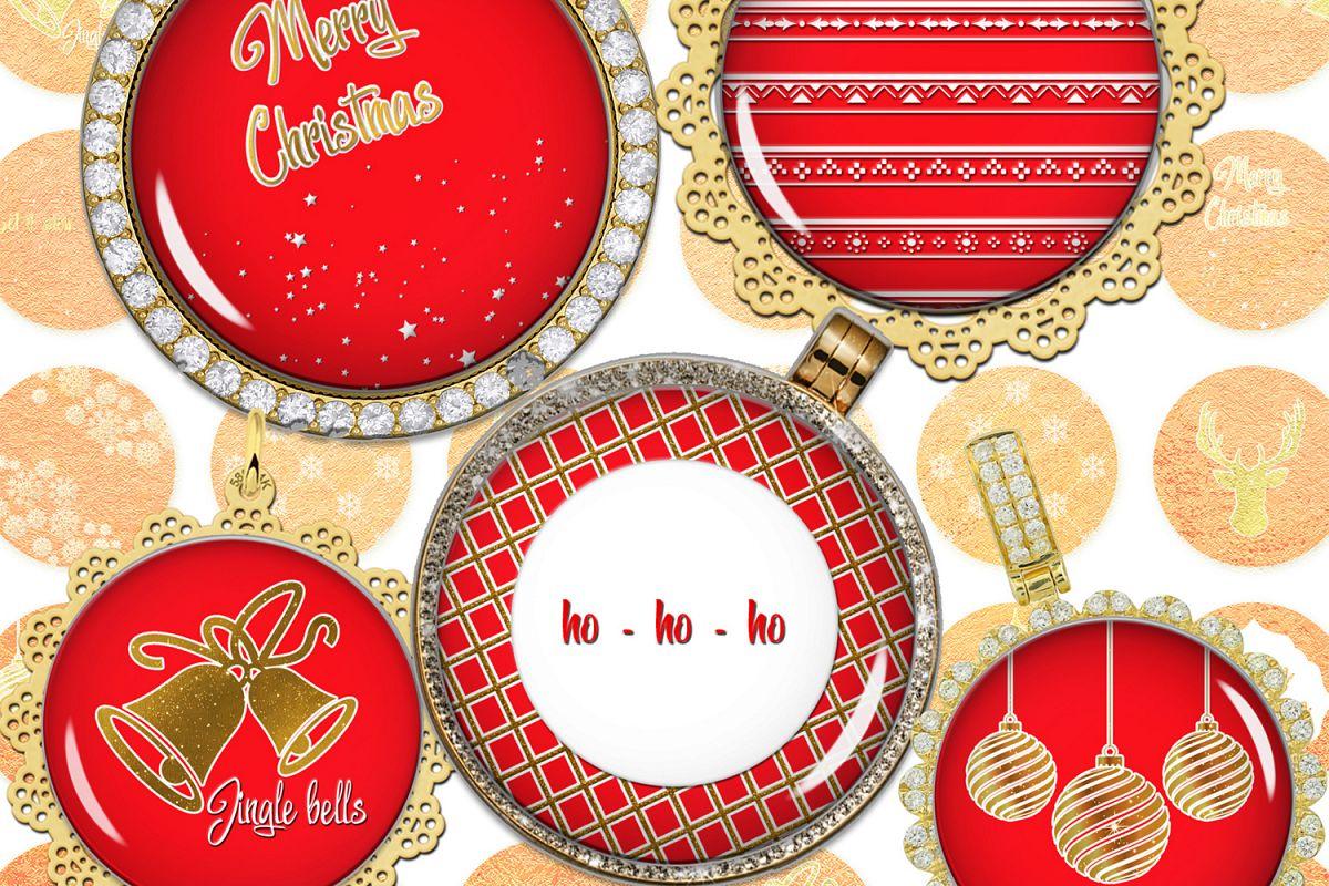 Happy New Year Images,Digital Circles,Holiday Image,Prints example image 1