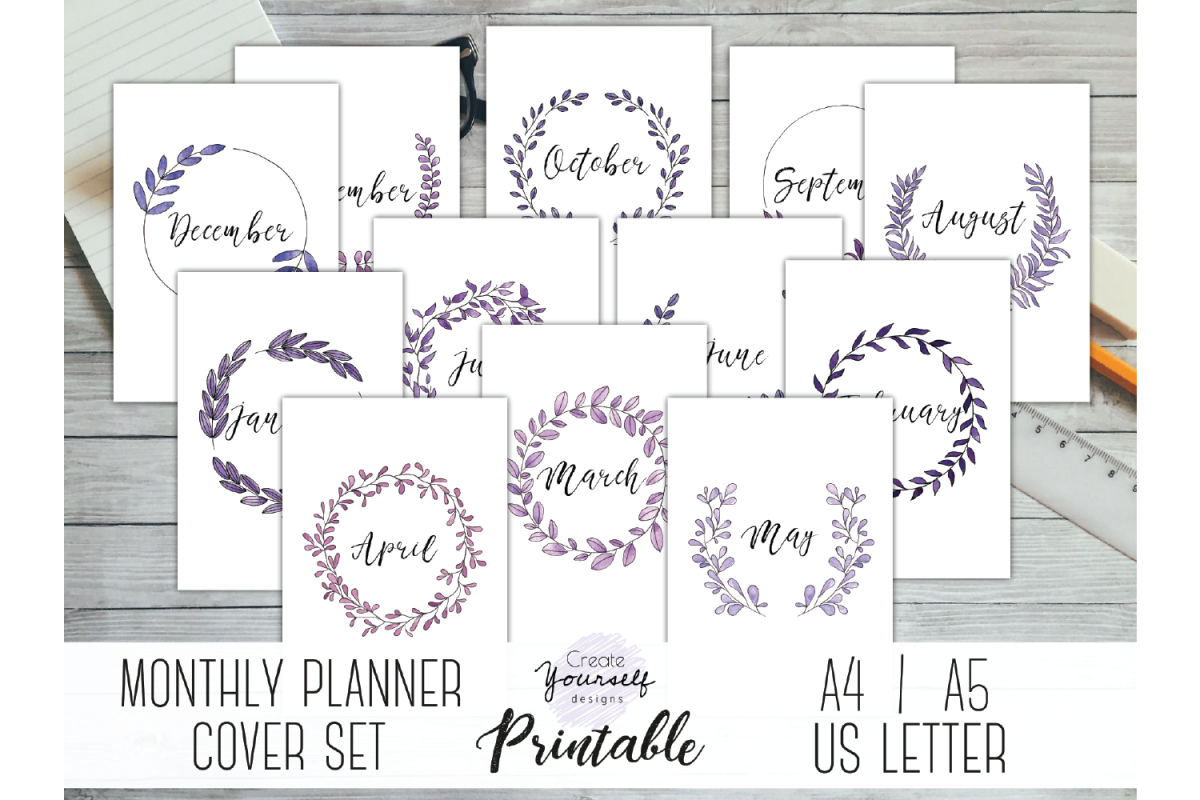 photo about Printable Dividers titled Printable regular monthly planner protect - month to month planner dividers