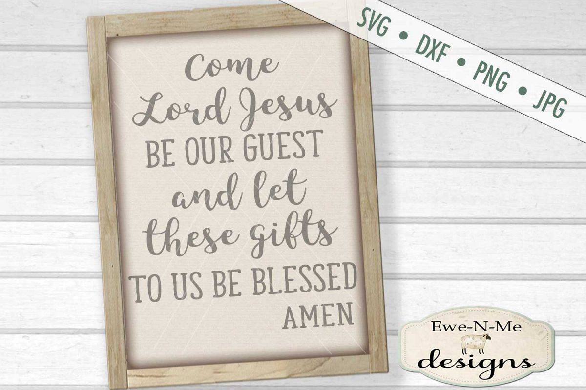 Table Prayer Christian SVG DXF Cut File example image 1