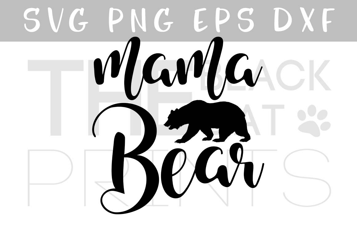 Mama Bear SVG PNG EPS DXF example image 1