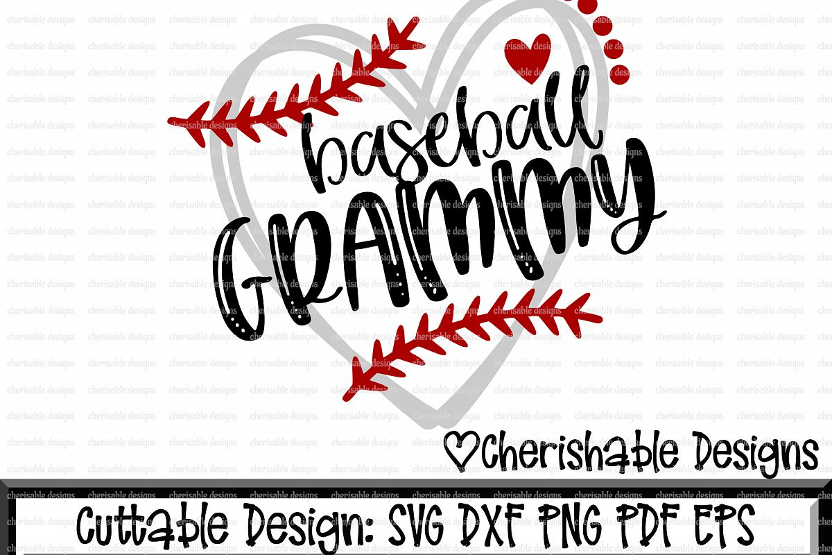 Baseball Svg, Baseball Grammy svg, Baseball Cutting file, heart ...