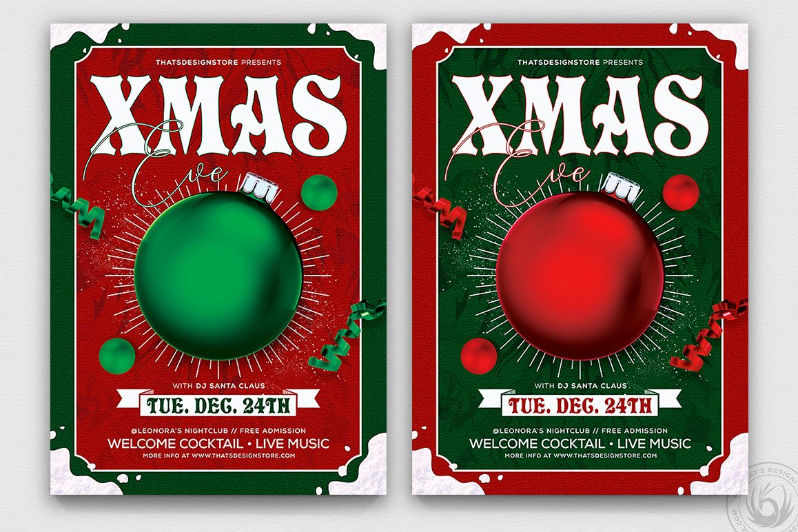 Christmas Eve Flyer Template V9 example image 1