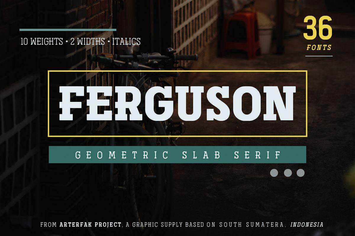 Ferguson Slab Font Family example image 1