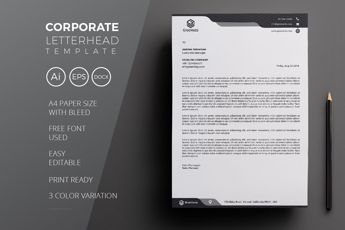 Corporate Letterhead example image 1