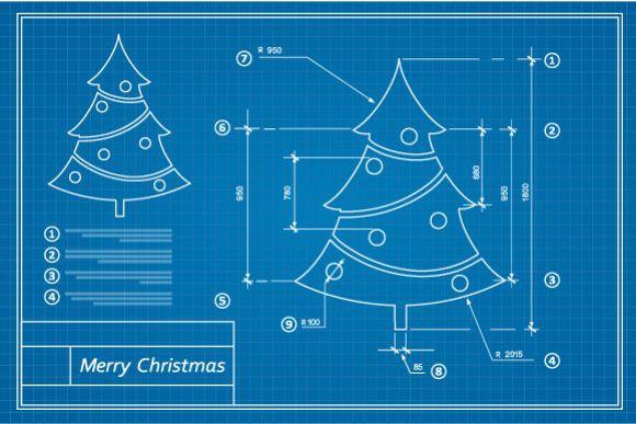Christmas vector card scheme example image 1