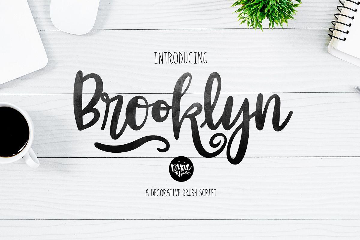 BROOKLYN Brush Script .OTF Font example image 1