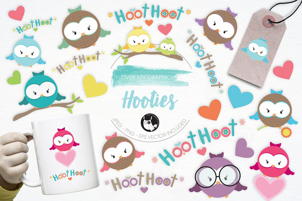 Hooties graphics and illustrations example image 1