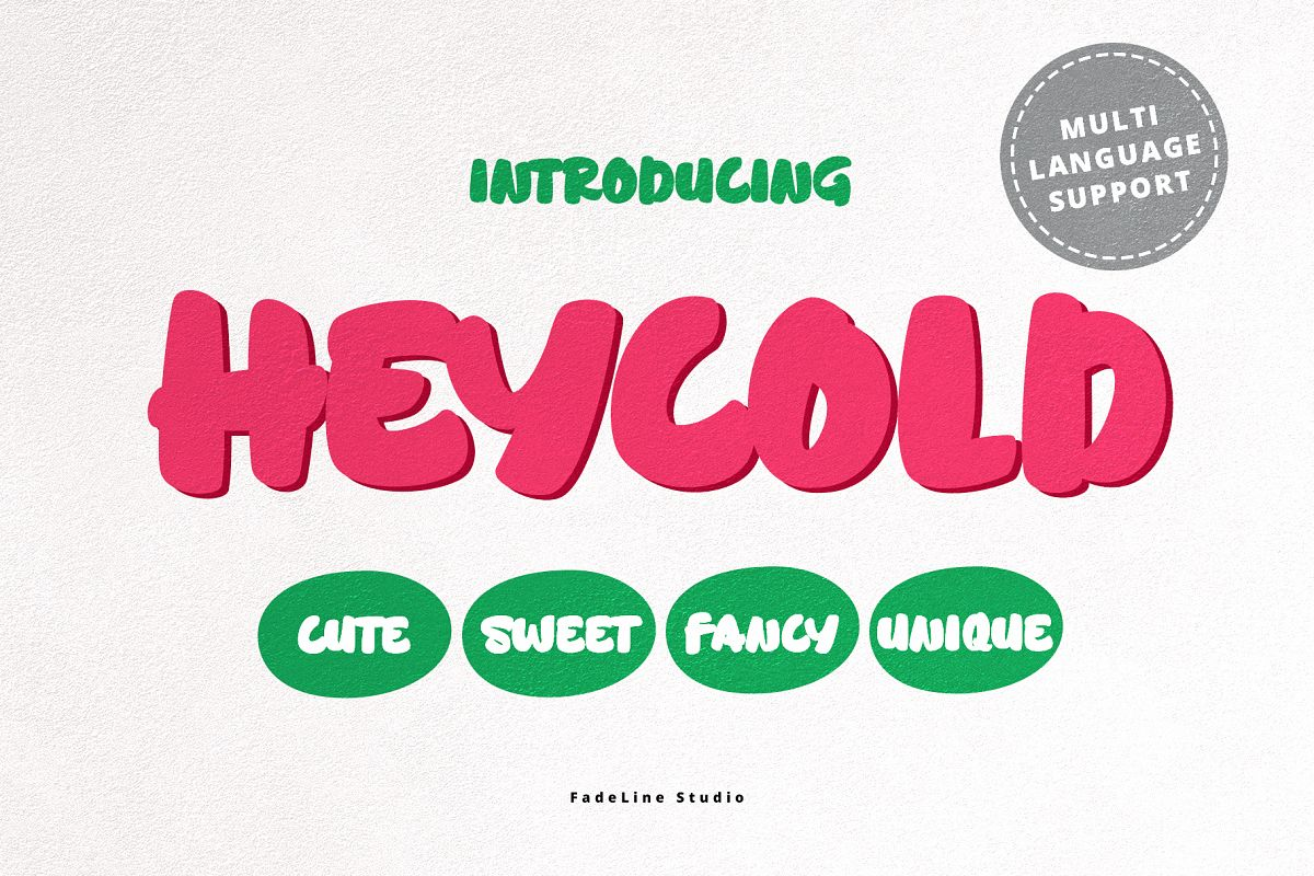 HEYCOLD CUTE FONT example image 1