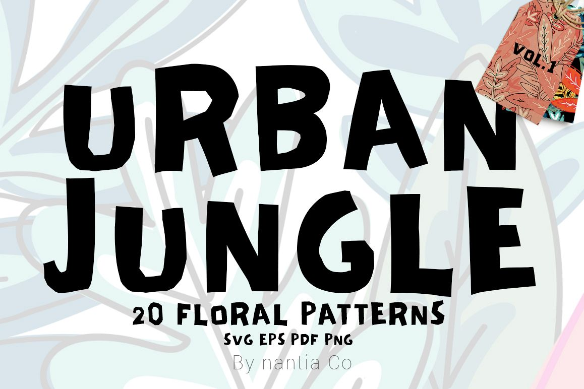 20 Urban Jungle Pattern Vol.1 example image 1