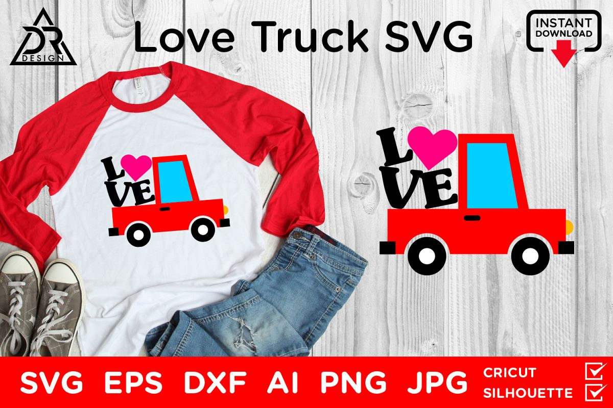 Love Truck SVG example image 1