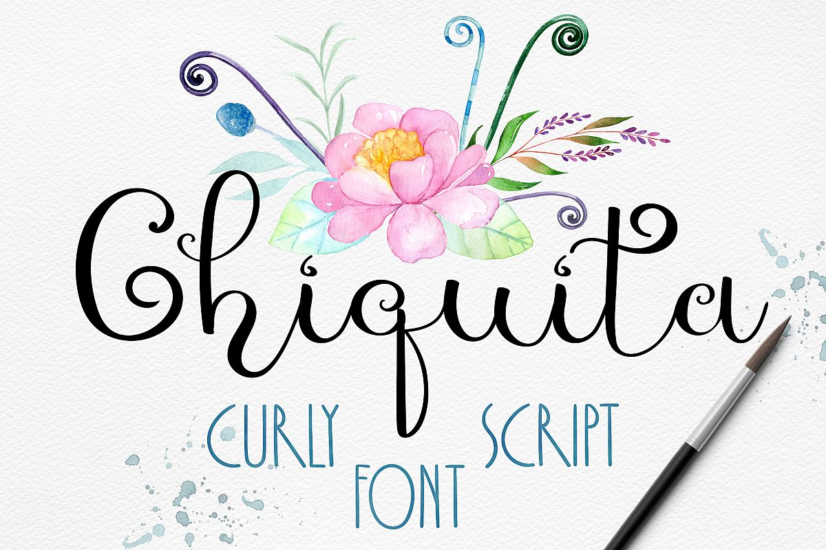 Chiquita - curly script font example image 1