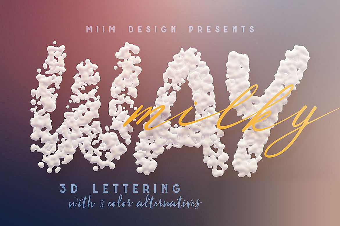 Milky Way 3D Lettering example image 1