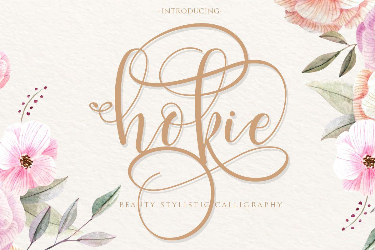 hokie   Beauty Stylistic Calligraphy example image 1