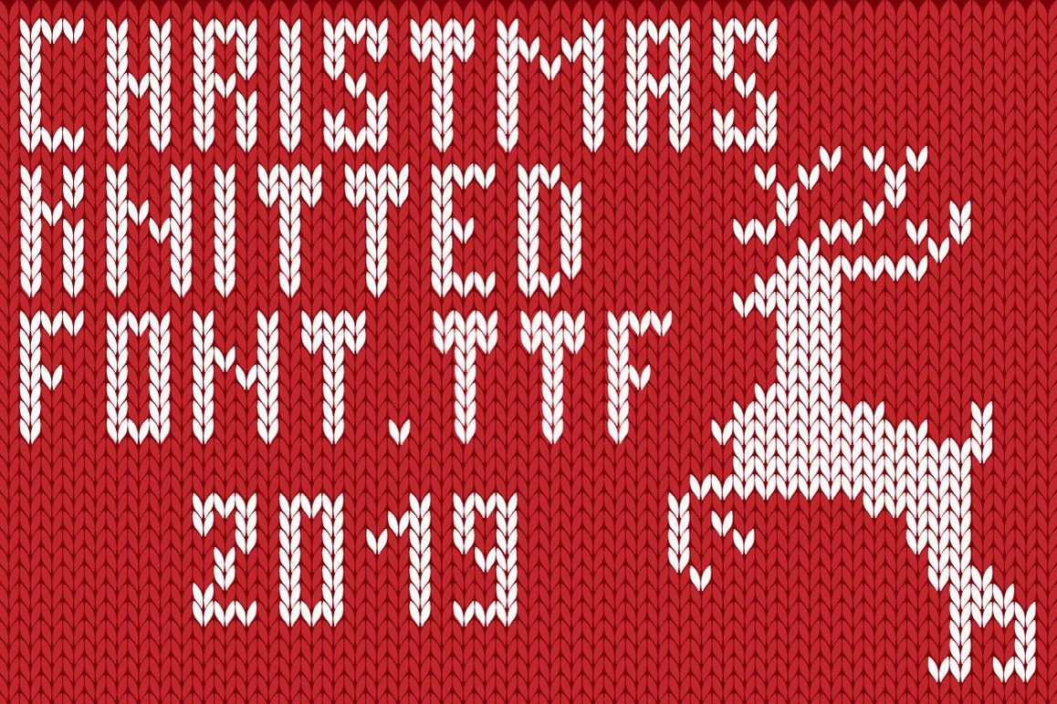 Christmas Knitted Font Ol example image 1