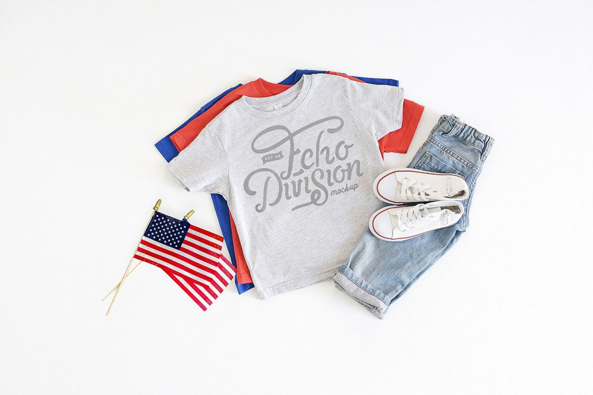 4th of July Mockup- Toddler Jersey Tee - 3321- Heather example image 1