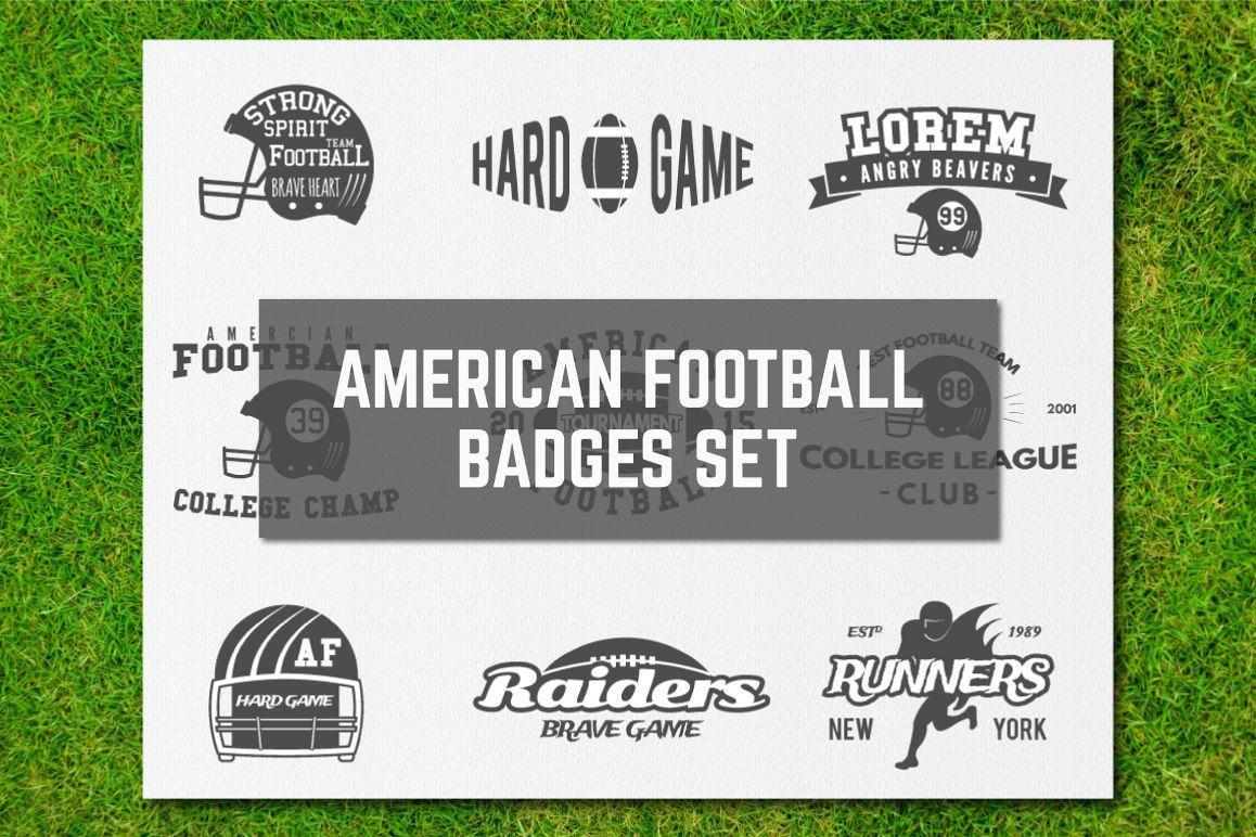9 American Football Logos & Labels example image 1