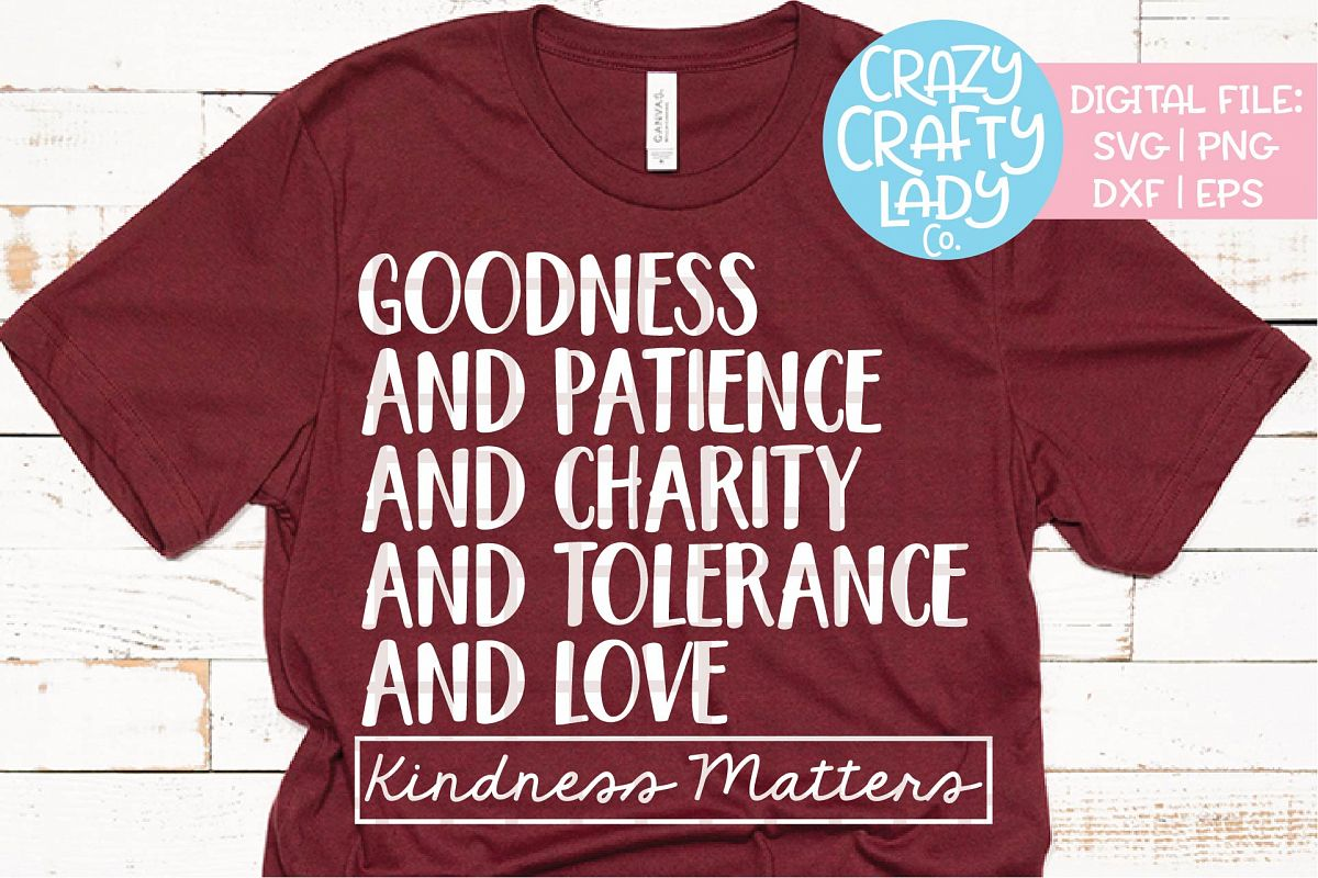 Kindness Matters SVG DXF EPS PNG Cut File example image 1