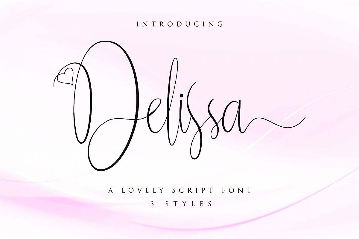 Delissa Script example image 1