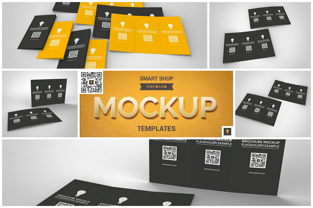 Brochure Trifold Mockup example image 1