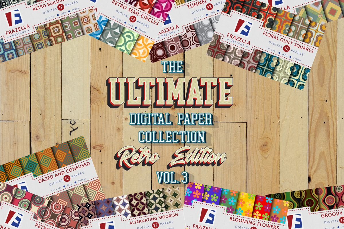 The ULTIMATE Digital Paper Collection Retro Edition Vol. 3. example image 1