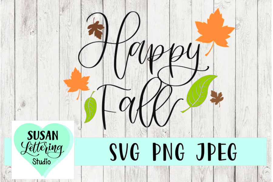 Happy Fall SVG, PNG, JPEG example image 1