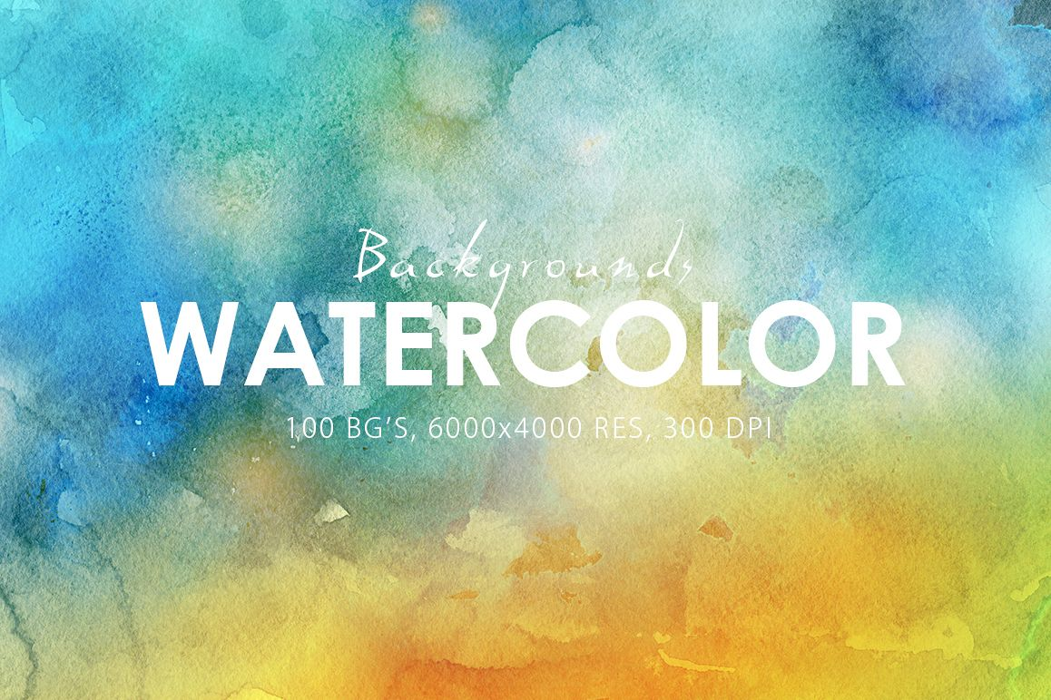 100 Watercolor Backgrounds Vol.1 example image 1