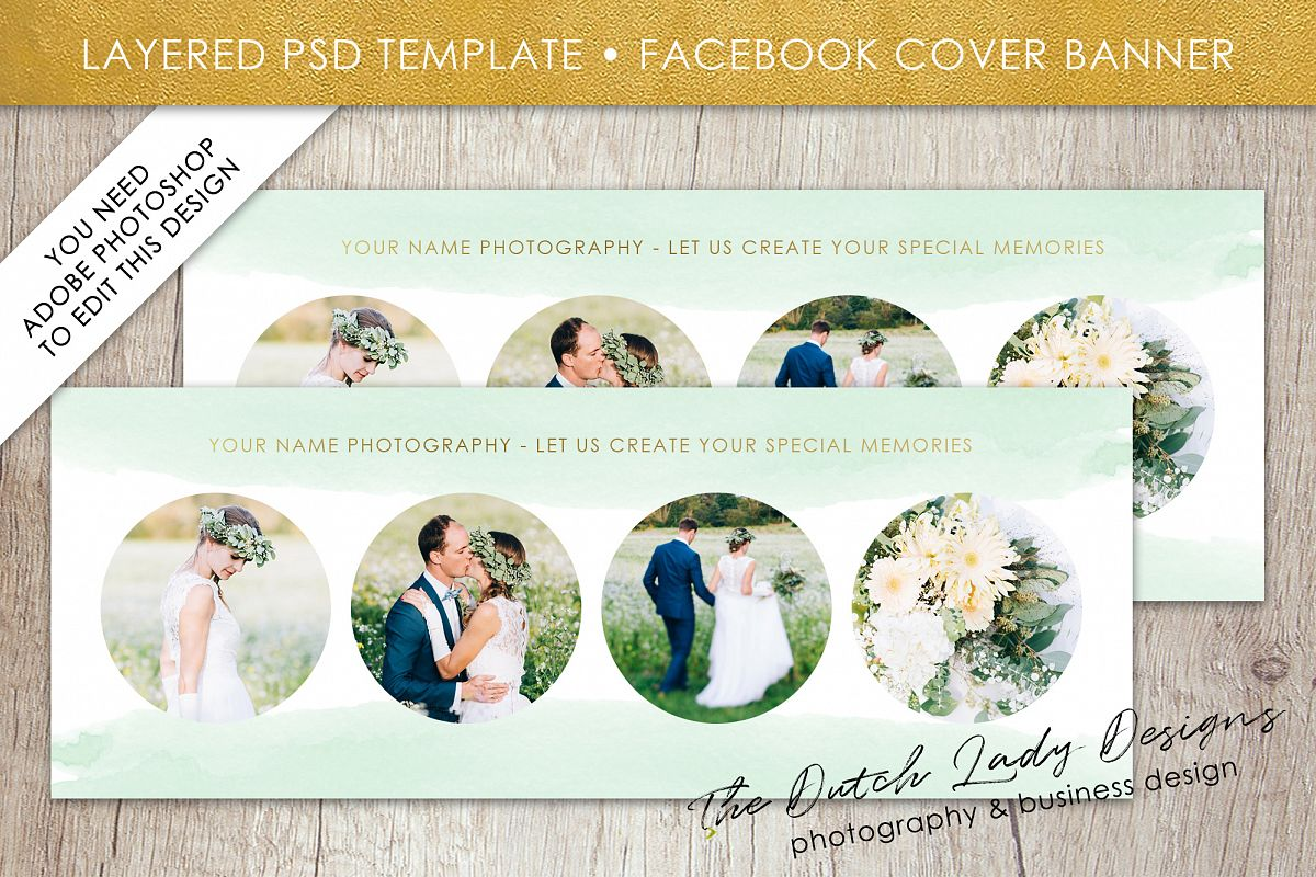 Photography Facebook Cover Banner Template - Design #13 example image 1