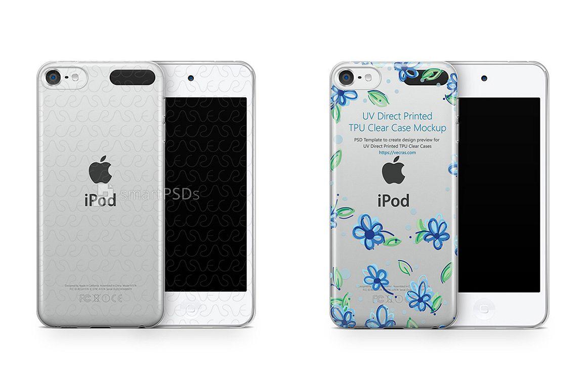 new product f7fc1 d56b6 Apple iPod Touch 6 UV TPU Clear Case Design Mockup