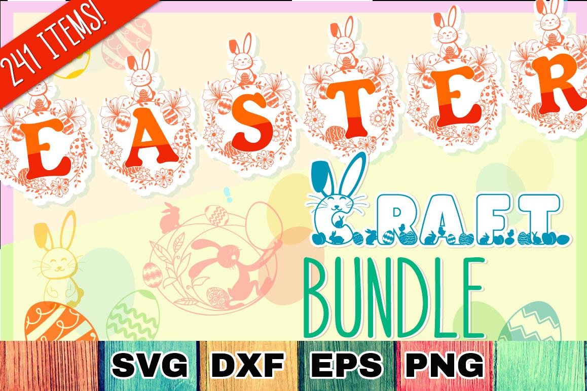 Easter SVG Mega Bundle - SVG Cut Files & Alphabets example image 1