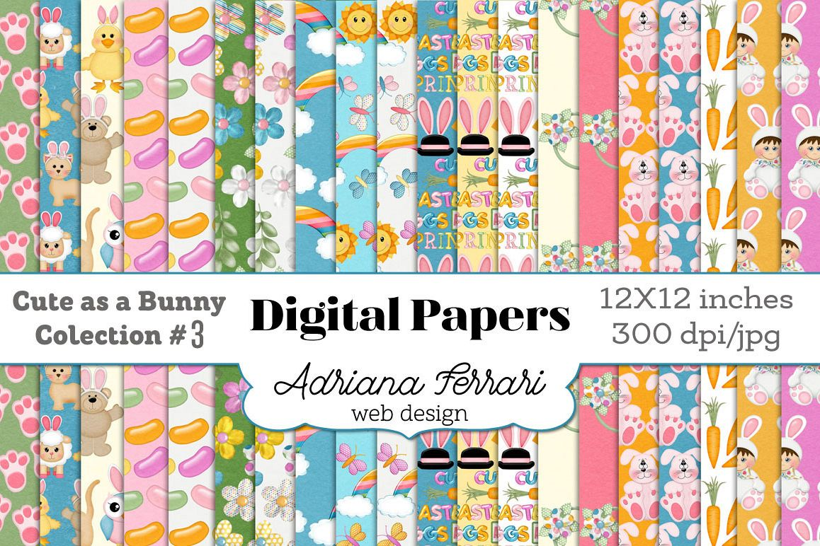 Cute as a Bunny Paper 3 example image 1