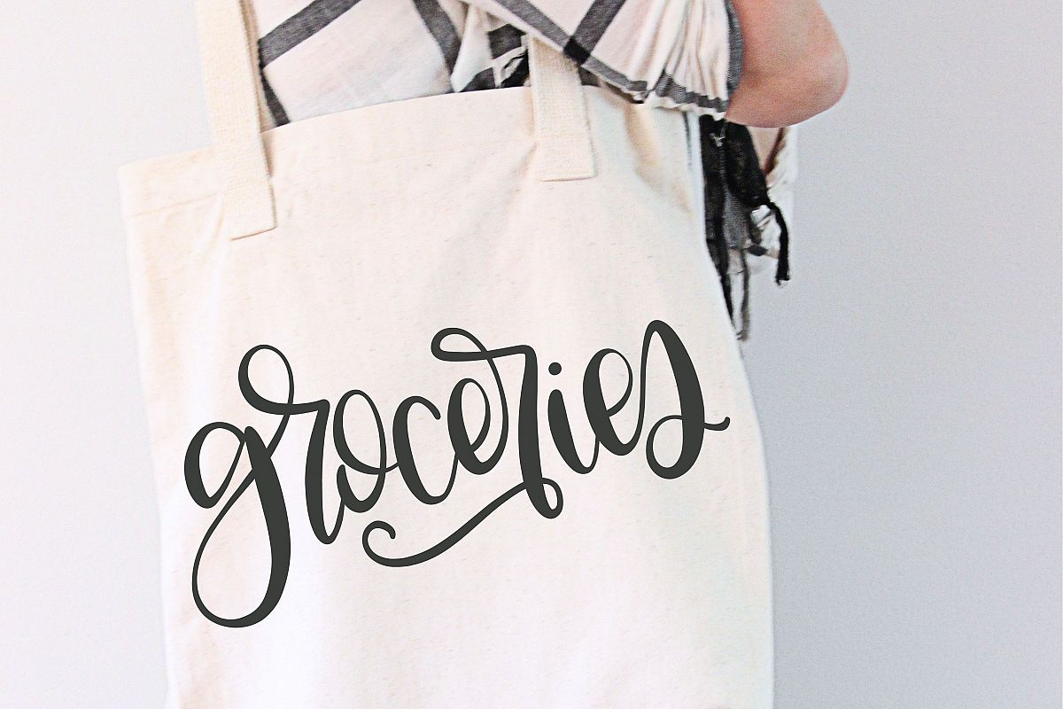 Groceries - Hand Lettered SVG example image 1