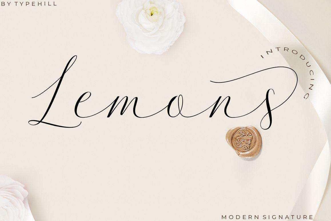 Lemons Font Trio example image 1