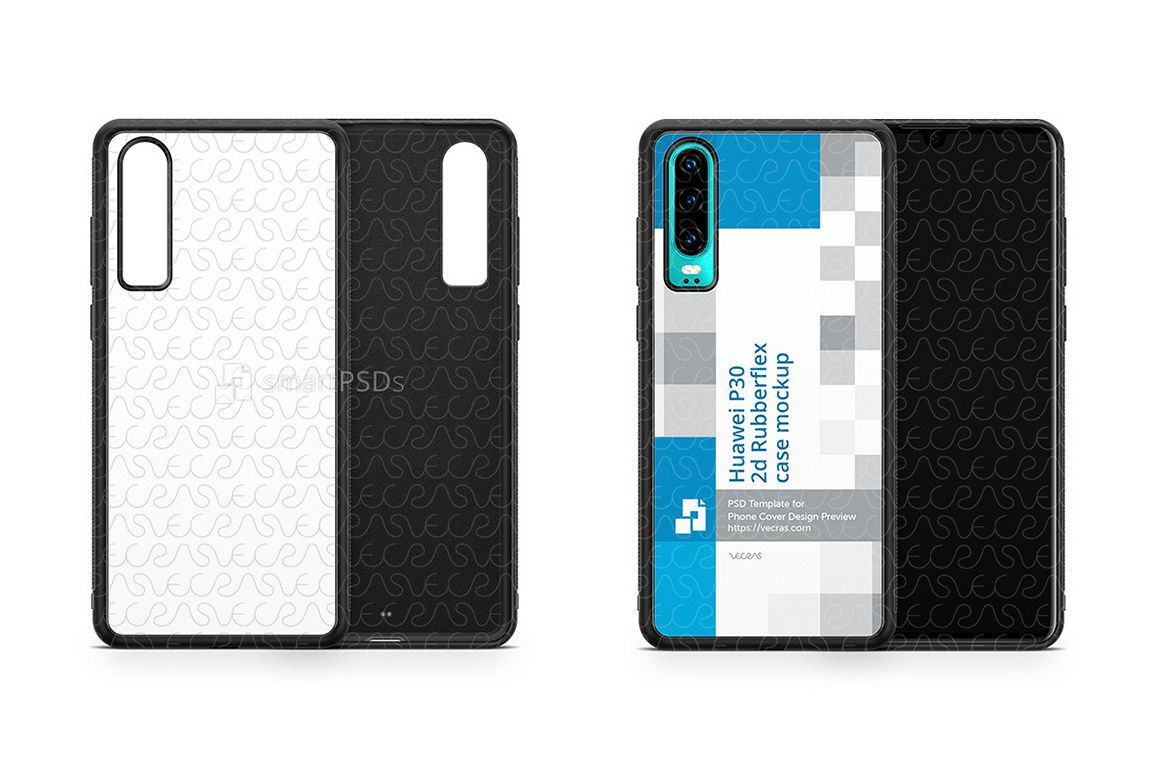 Huawei P30 2d RubberFlex Case Design Mockup 2019 example image 1
