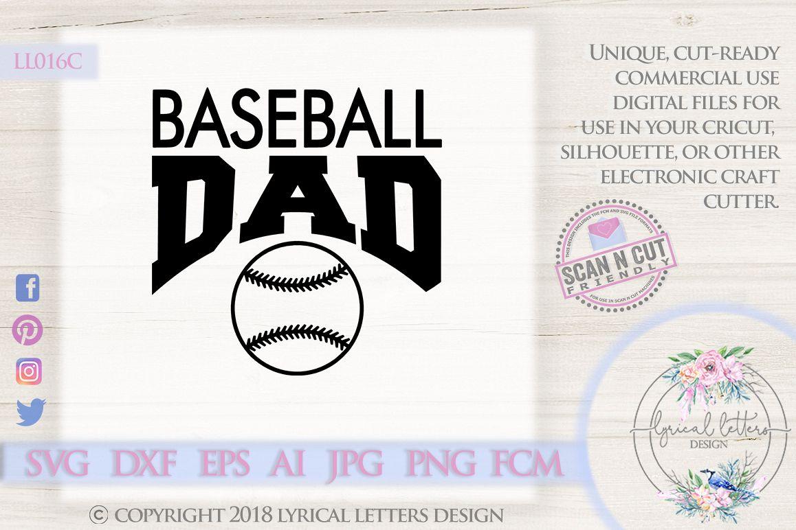 Baseball Dad Sports SVD DXF Cut File LL016C example image 1
