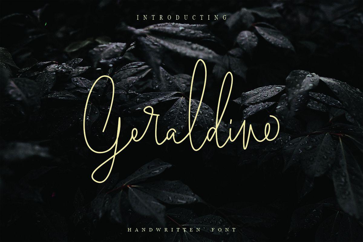 Geraldine | Hand Written Font example image 1