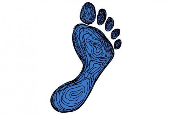 Footprint Drawing example image 1