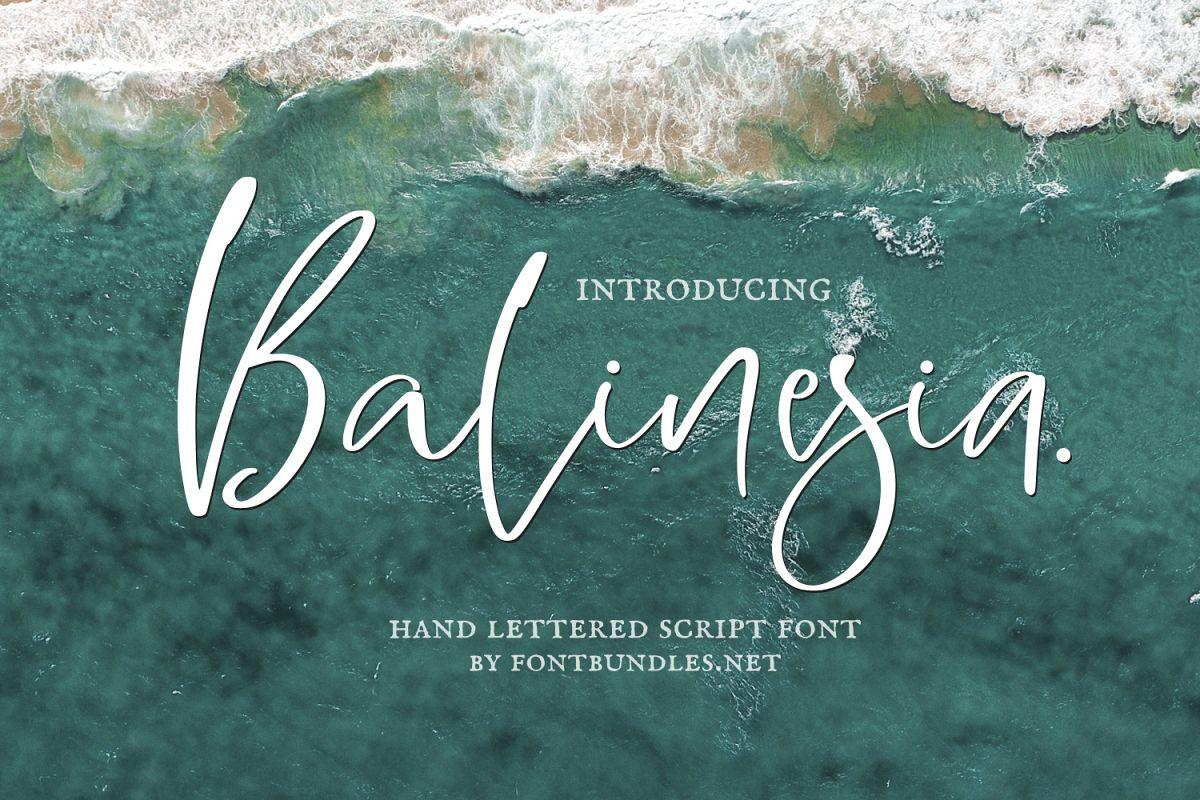 Balinesia Signature Font example image 1