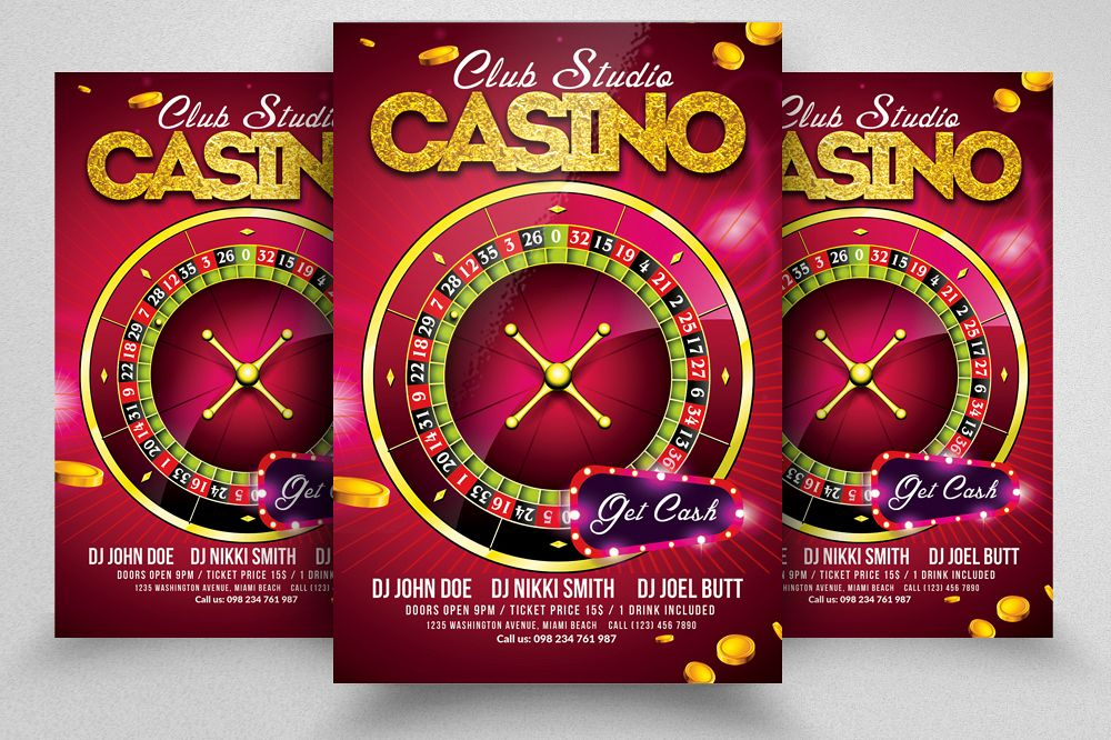 Casino Flyer Template example image 1