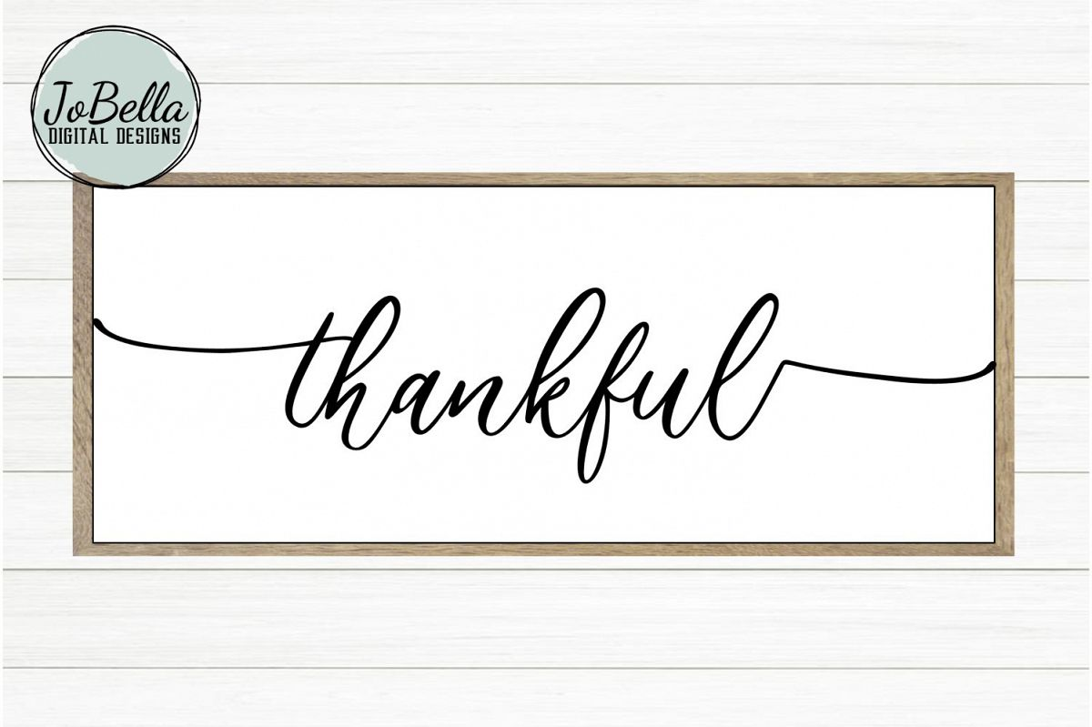 Thankful SVG and Printable Farmhouse Design example image 1