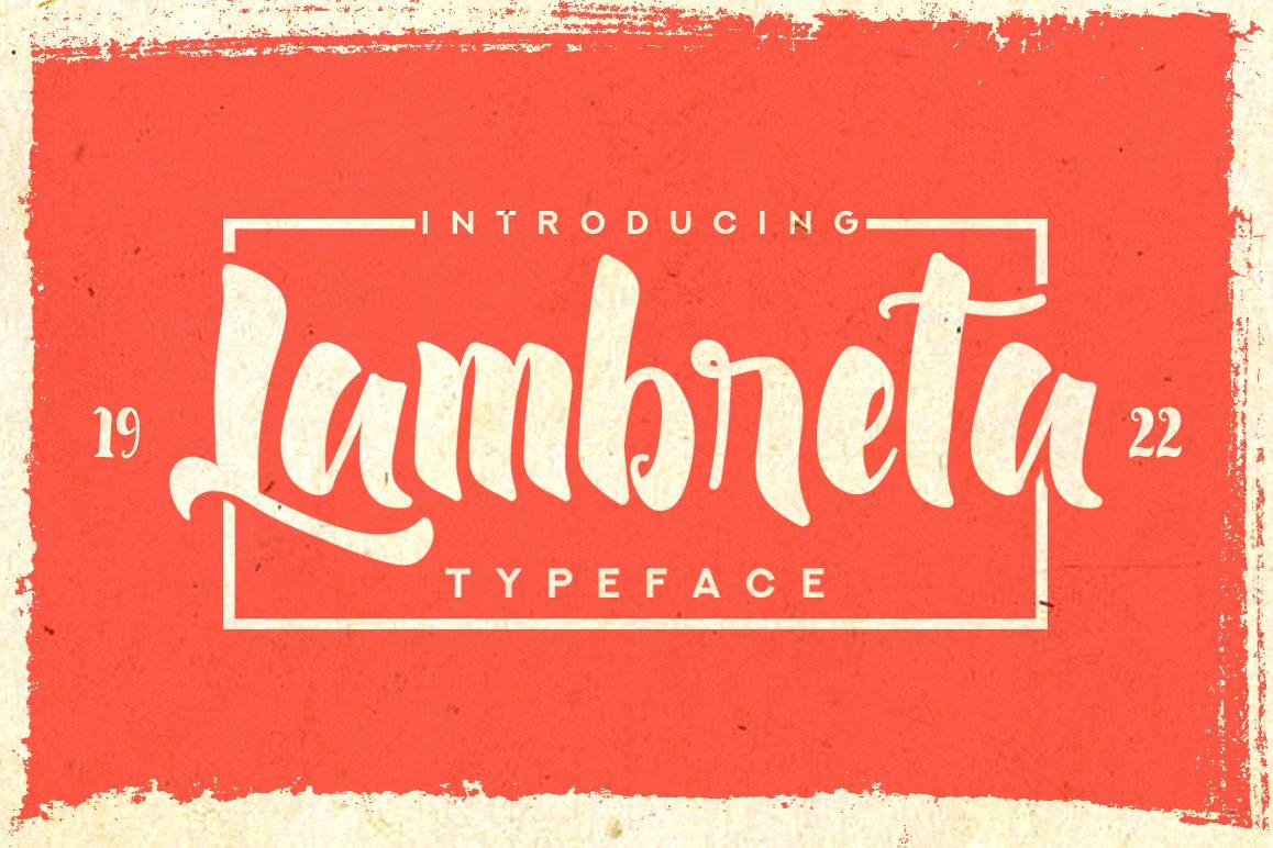 Lambreta Typeface example image 1