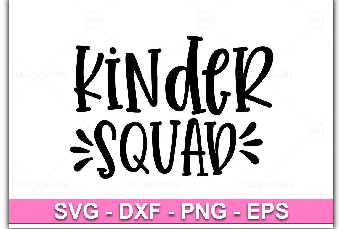 Kinder Squad svg, Kinder svg, dxf, png, Kindergarten svg example image 1