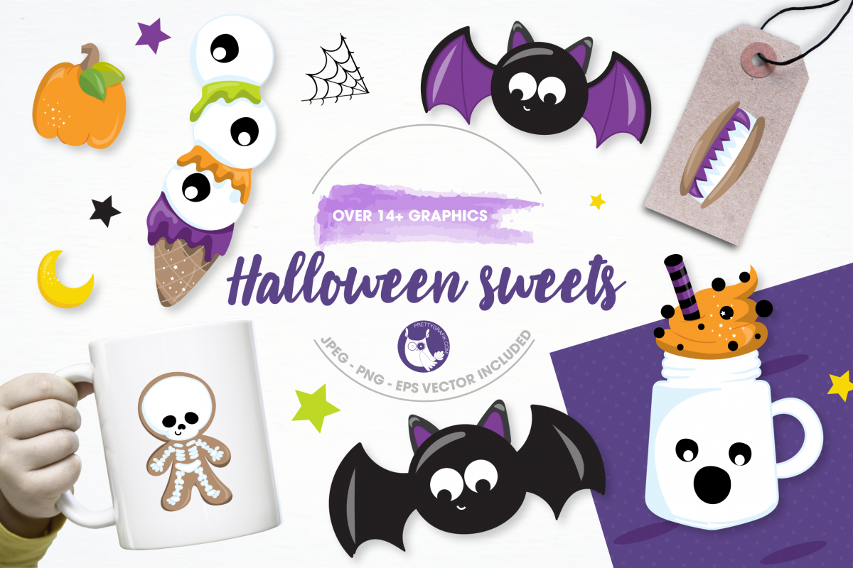 halloween sweets graphics and illustrations example image 1