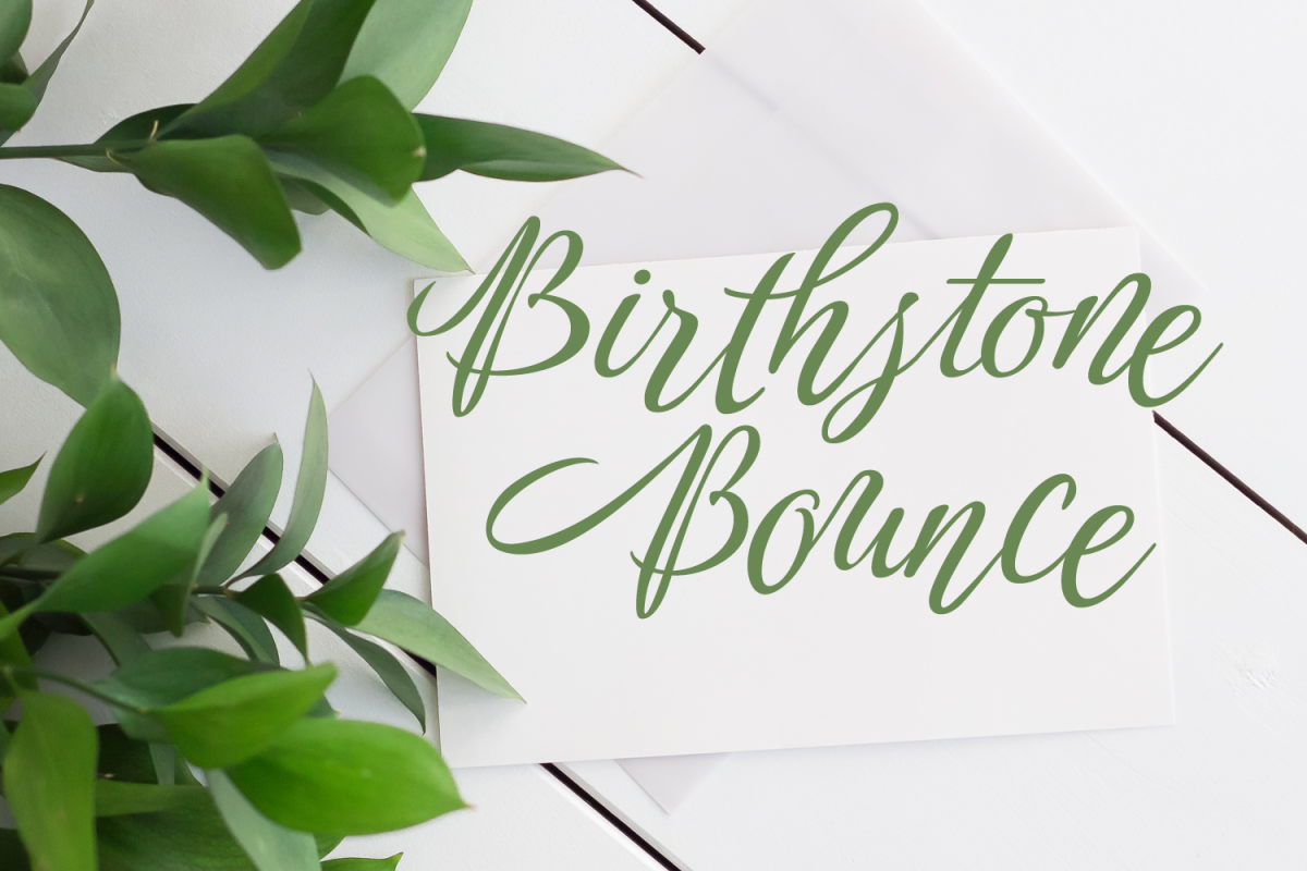 Birthstone Bounce 2 Font Package example image 1