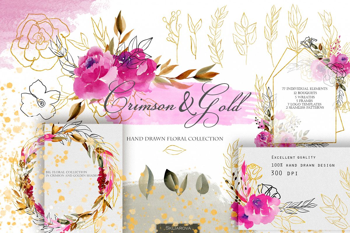Crimson and Gold collection example image 1