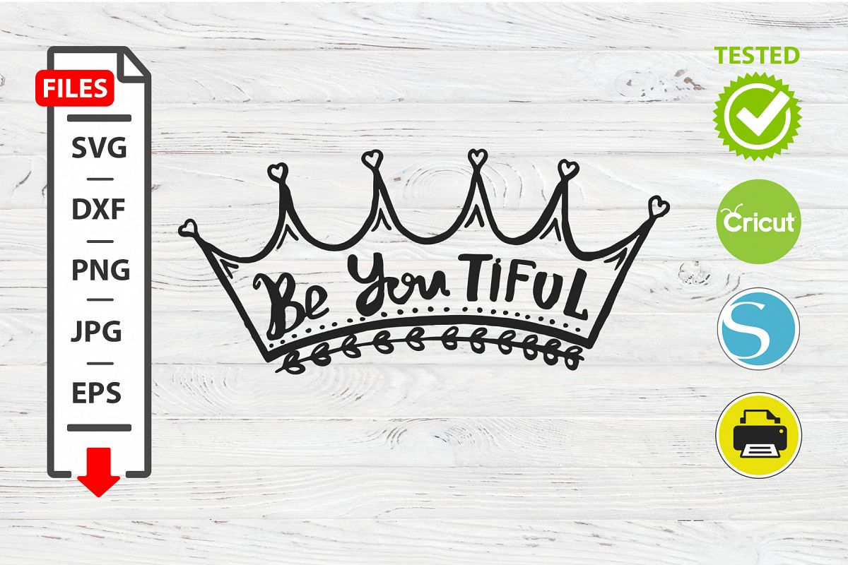 Be youthful motivational quote SVG Cricut Silhouette design example image 1