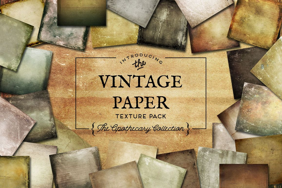 Vintage Paper Textures Apothecary Collection example image 1