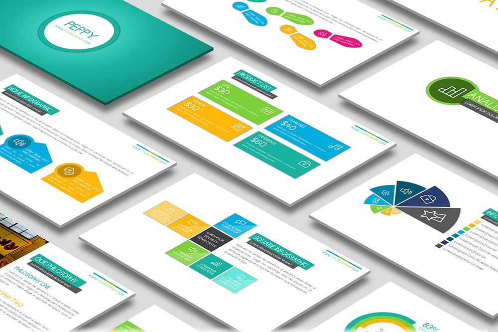 Peppy Powerpoint Template example image 1
