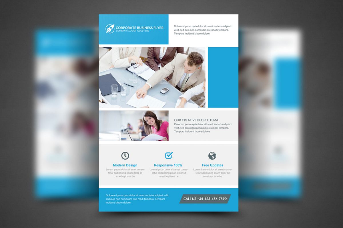 Clean Corporate Business Flyer example image 1