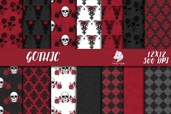 Gothic Digital Paper example image 1